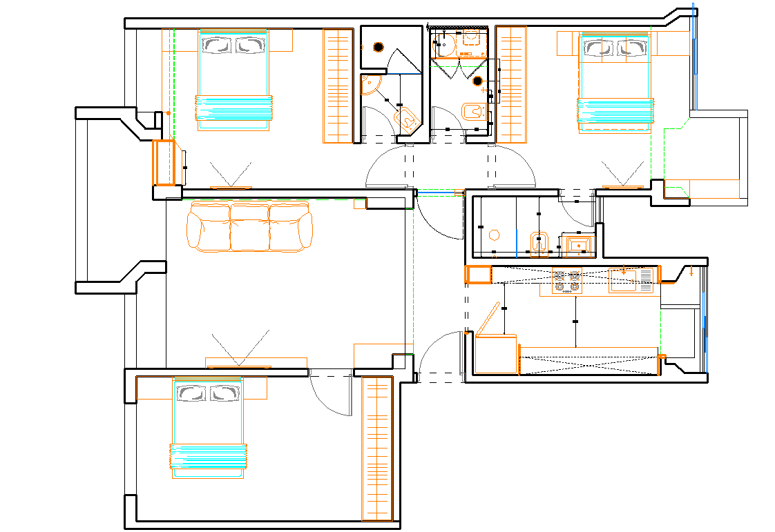 House Layout plan detail