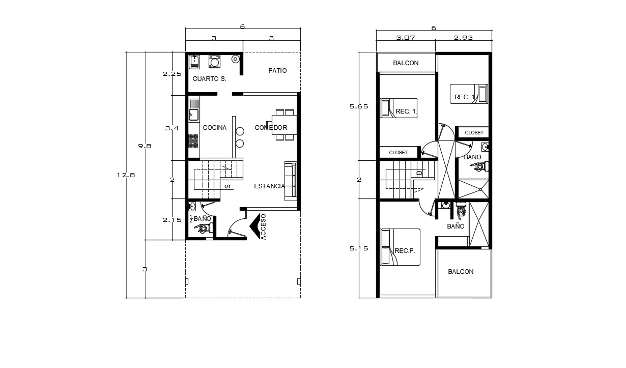 House Plan Drawing In AutoCAD File