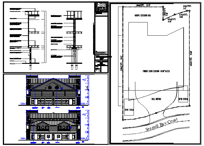 House Structure & lay-out With Elevation Detail