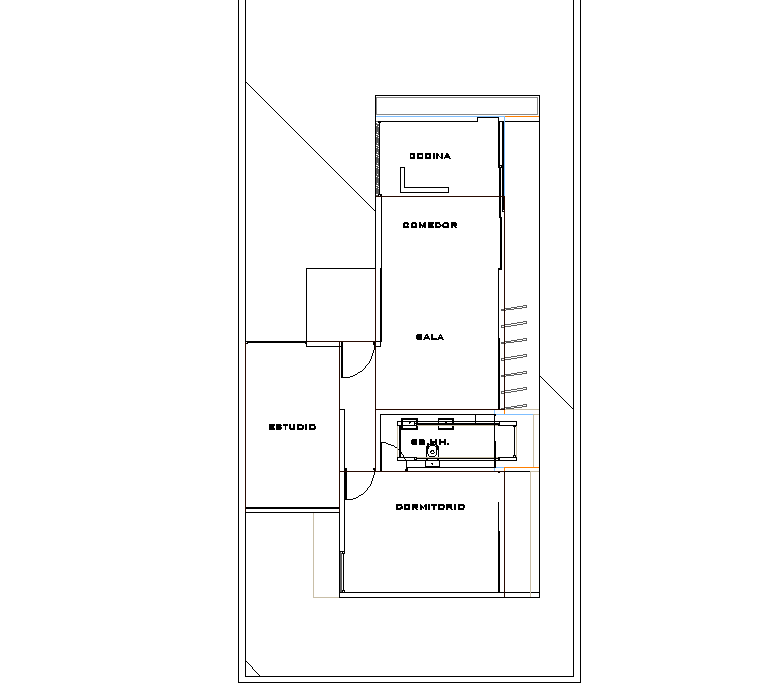 House conditioning plan detail dwg file