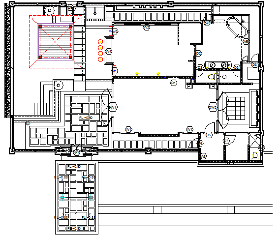 House door installation details with structural layout plan dwg file