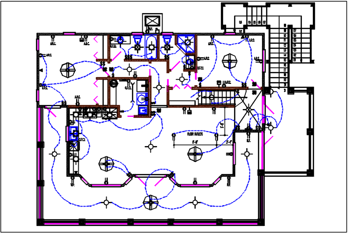 House electric plan layout and design plan layout view detail dwg file