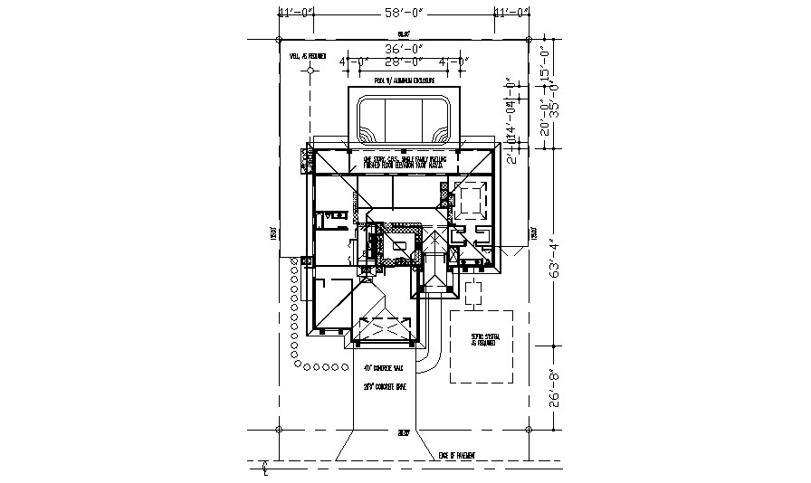 House plan 125mtrX80mtr in dwg file
