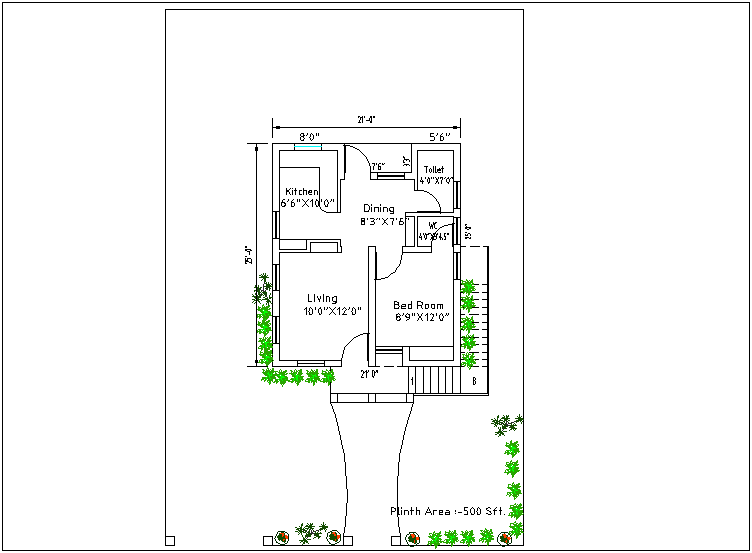 House plan design view dwg file