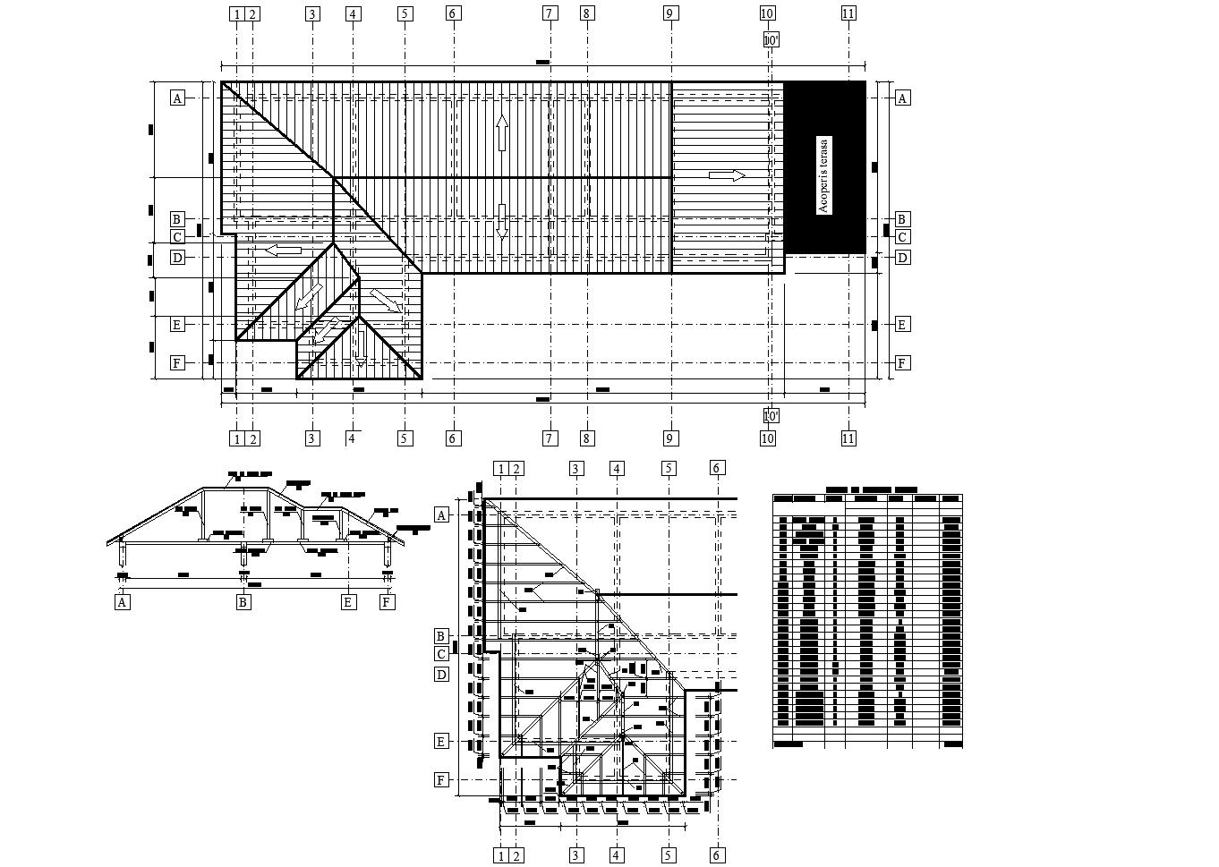 House plan detail dwg detail.,