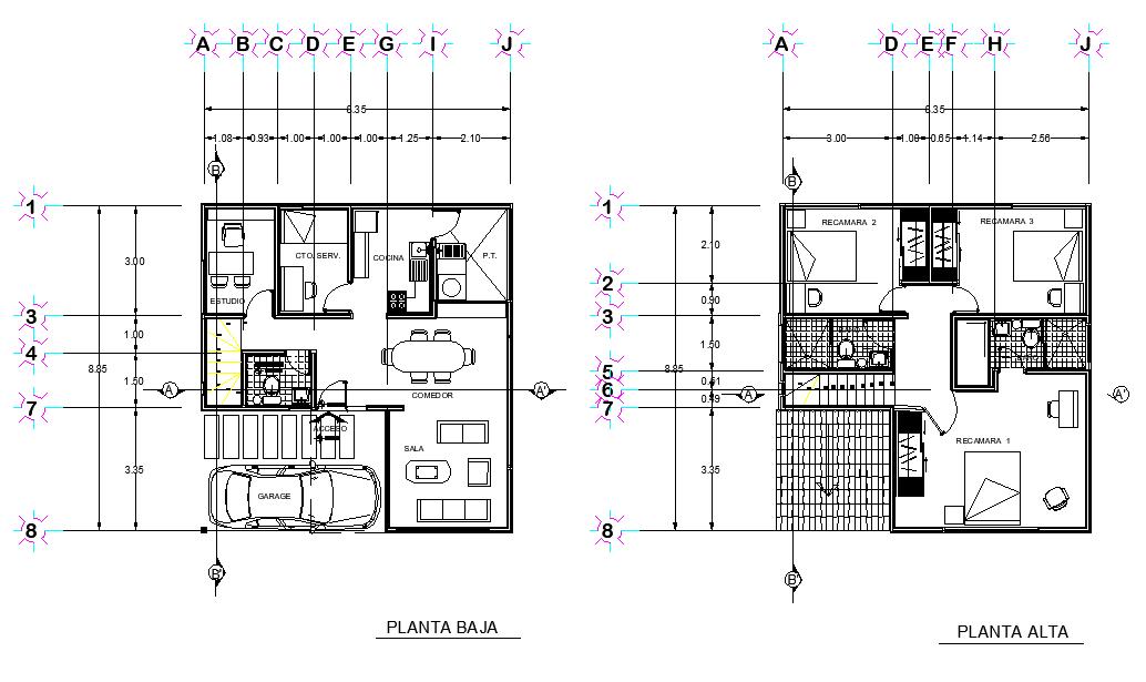House plan detail layout file