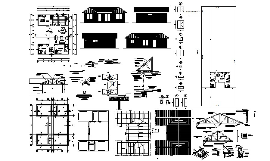 Download Free House Elevation In AutoCAD File