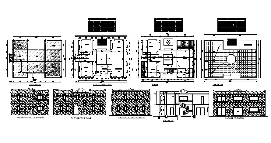 Small House Floor Plans CAD Drawings