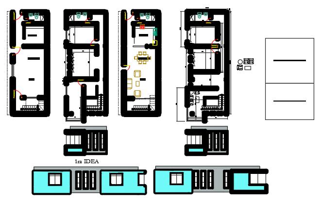 House re-model enlargement project 3d