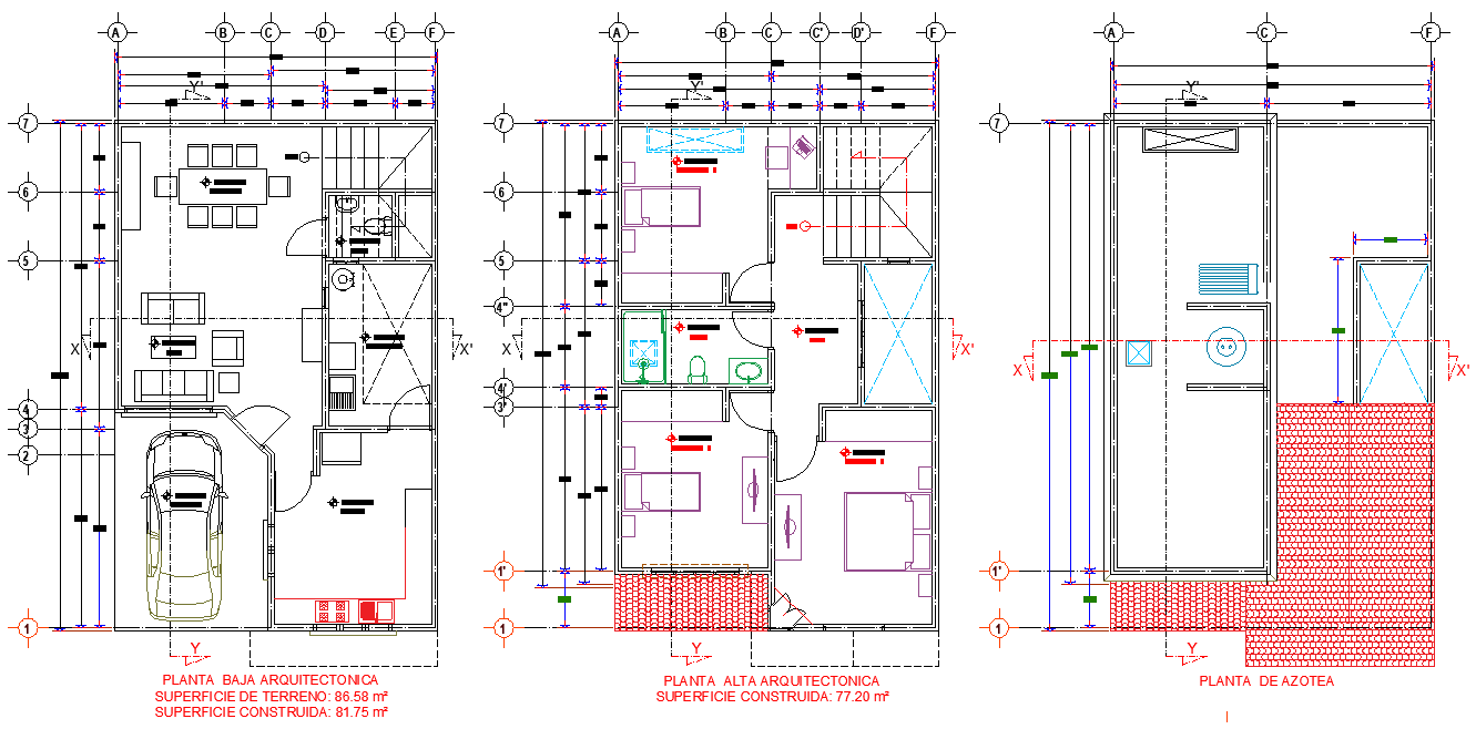 House room facilities plan layout file