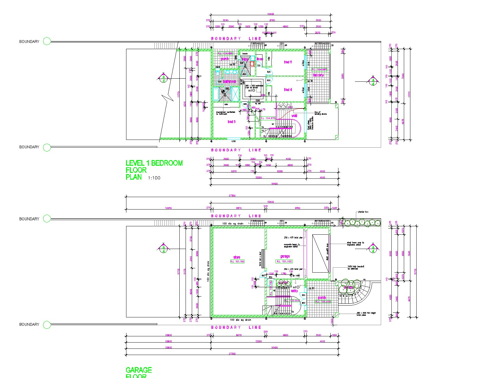 House with five bed rooms layout file