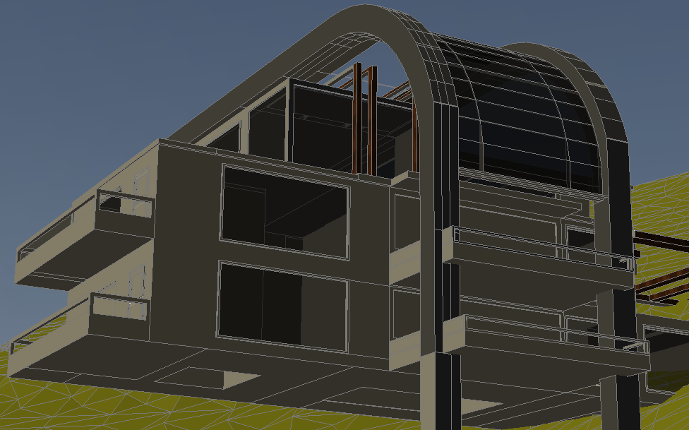 Housing 3 D plan detail