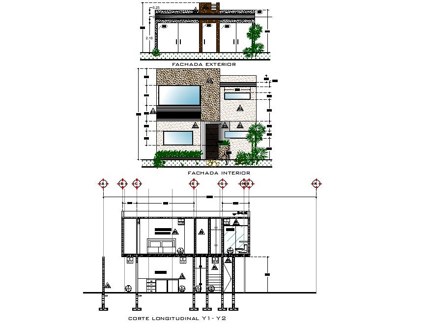 Housing finishing plan detail layout file