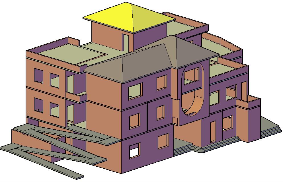 Housing for disabled children 3 D Nepal detail