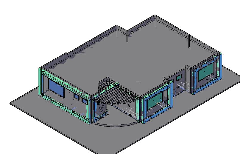 Housing plan in 3d dwg file