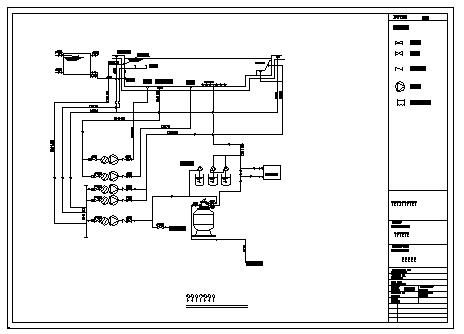 Indoor swimming pool system diagram design drawing