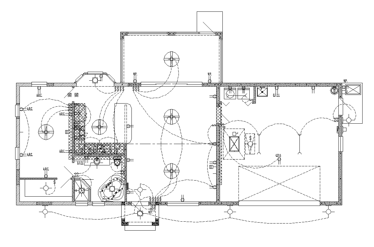 industrial building electrical installation 2d view layout Water Main Plans