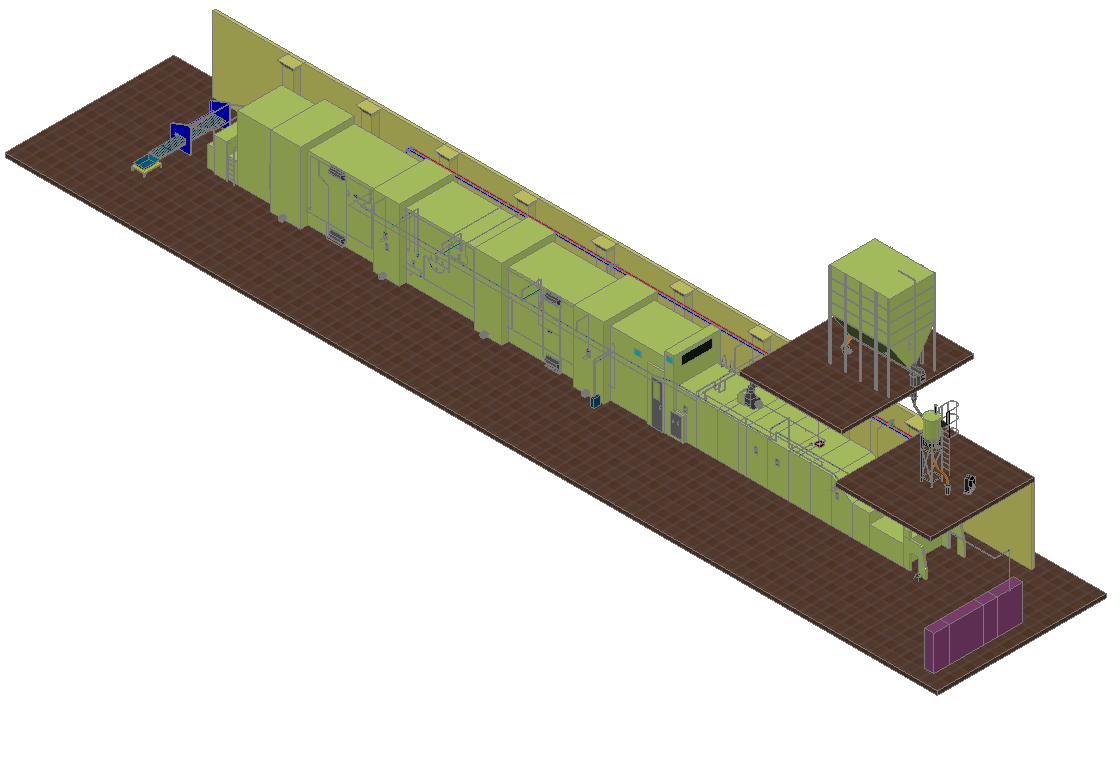 Industrial plant 3d  dwg file