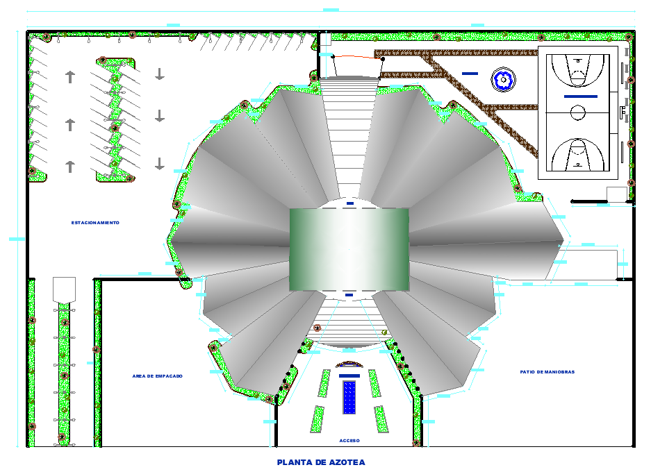 Industrial plant planning detail dwg file