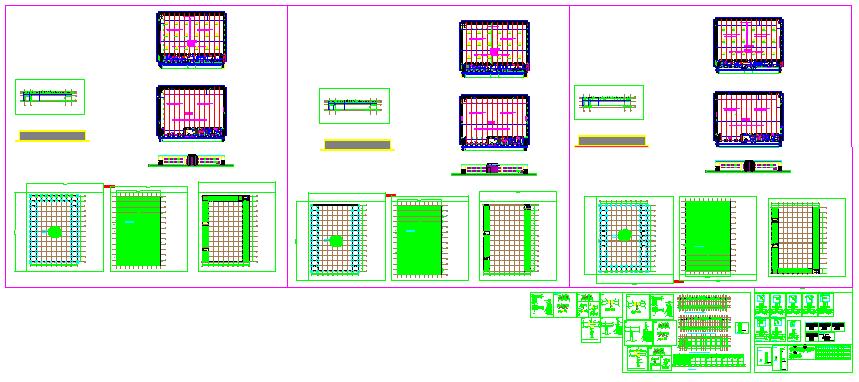 Industrial unit plan design drawing