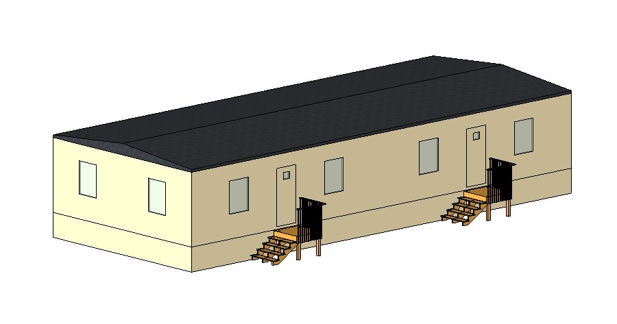 Industrial warehouse building 3d elevation cad drawing details dwg file