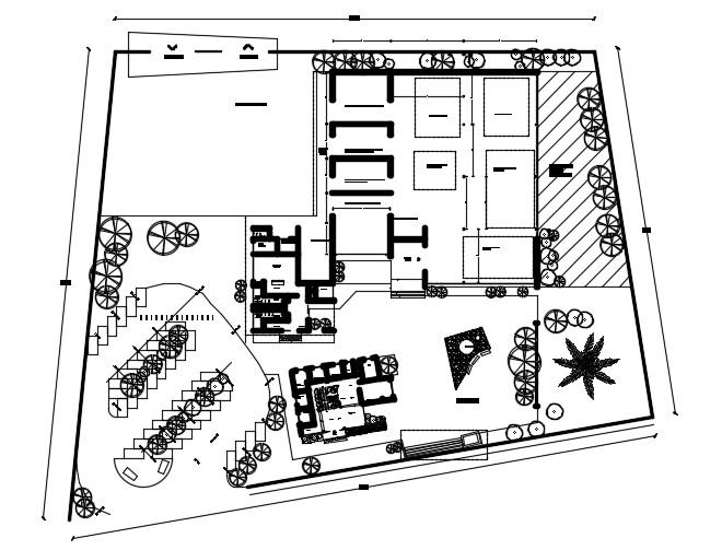 Industry Floor Plan In DWG File