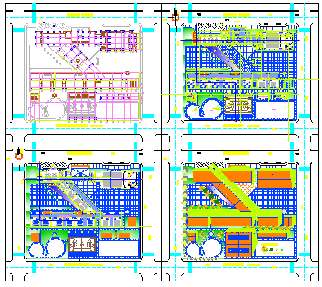 Initial college design drawing
