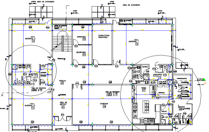 Installation Sanitary and Electronics Plan Details dwg file