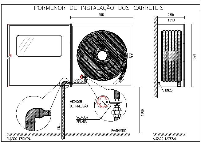 Installation details of reels dwg file