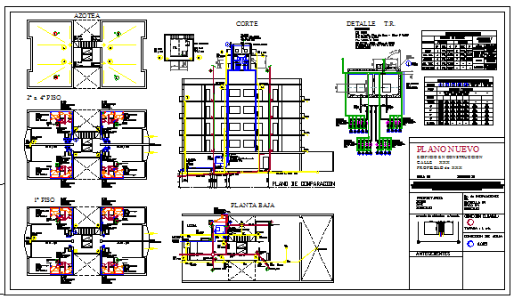 Installation of sanitary design drawing for multi family facilities design drawing