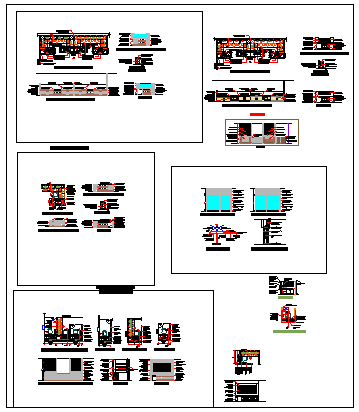 Interior design drawing of Bank