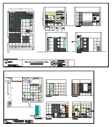 Interior design of Bathroom & Toilet design drawing
