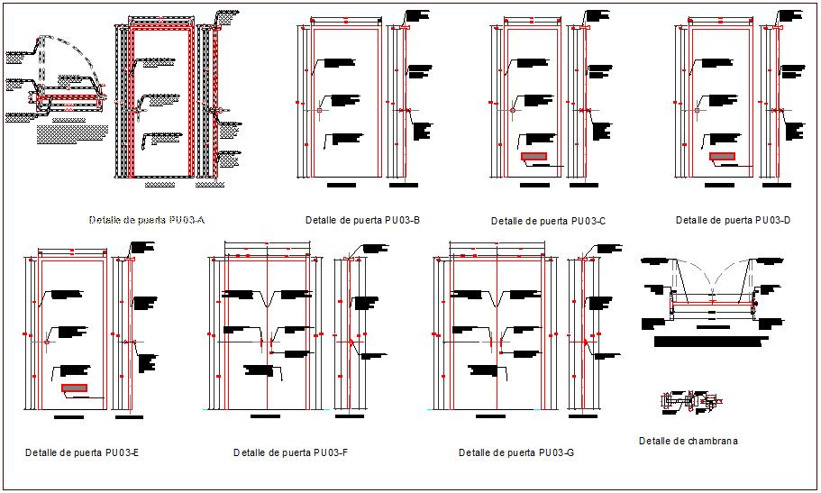 Interior design of door view