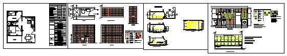 Interior kitchen design drawing