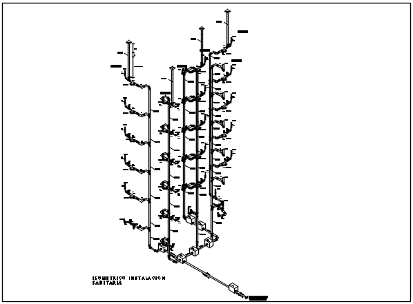 Isometric elevation plan detail dwg file