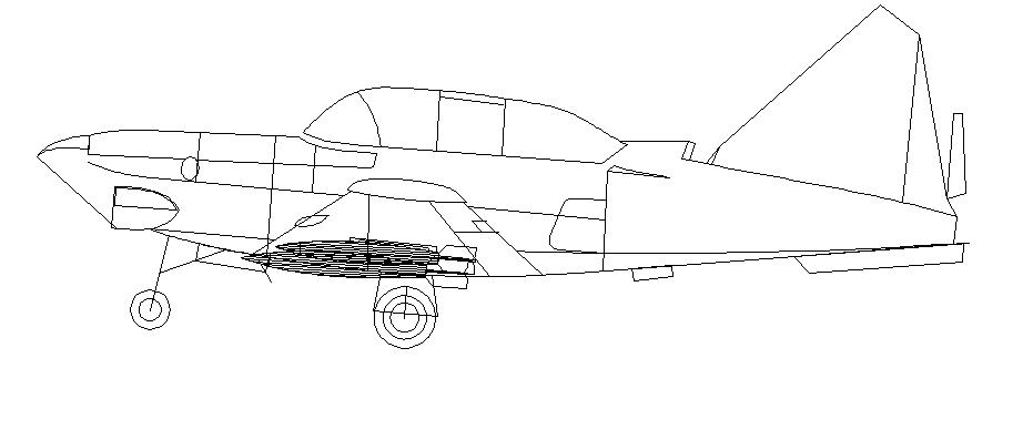Jet plane 2d view
