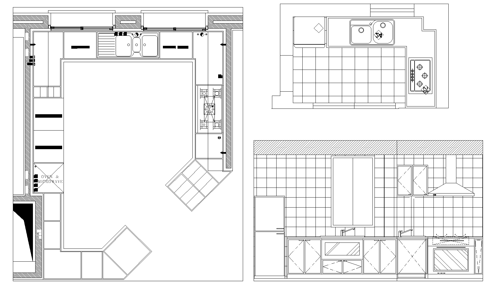 Kitchen  plan and elevations detail dwg.
