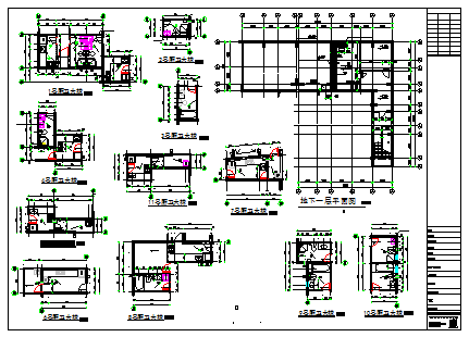 Kitchen and toilet detail design drawing of flat design drawing
