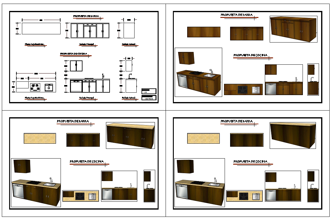 Kitchen Cabinet Detail Drawing Cadbull