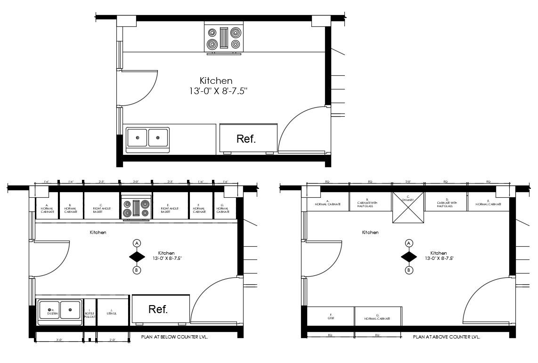 Download Free Kitchen Design Plan In Dwg File