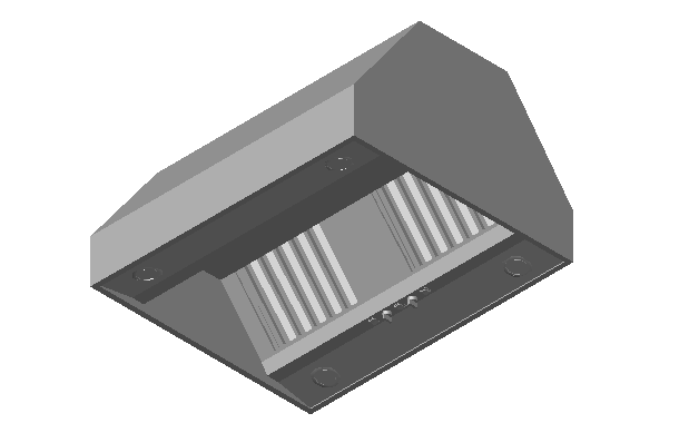 Kitchen island exhaust hood dwg file