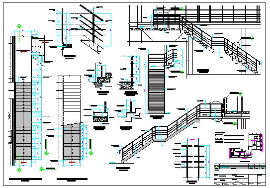 Ladder design drawing of office design