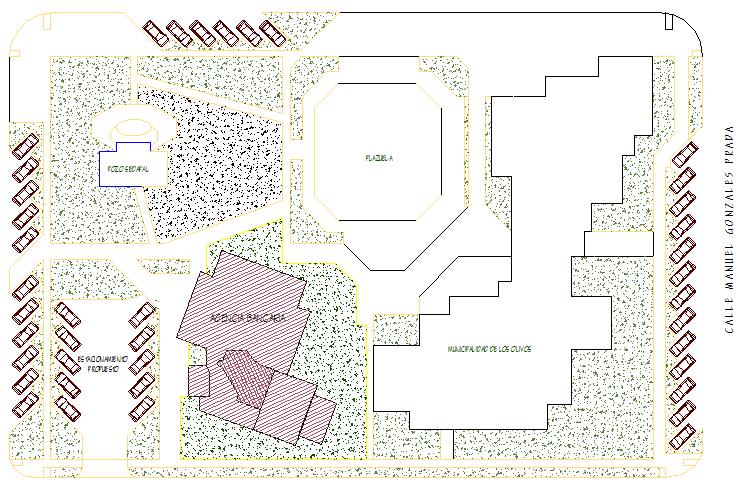 Landscaping details of city back agency dwg file