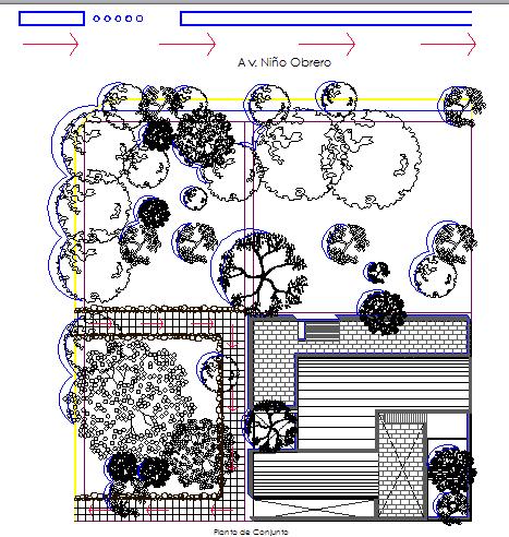 Landscaping details of hotel garden dwg file