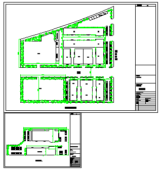 Landscaping layout of Car exhibition hall design drawing
