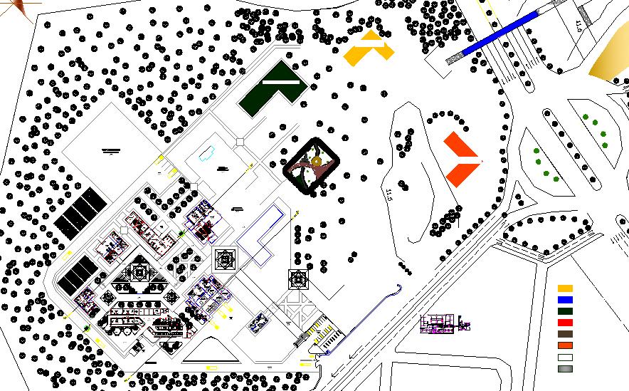 Landscaping layout plan detail