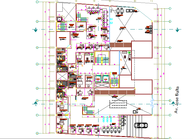 Large and big architectural layout  details of office dwg file