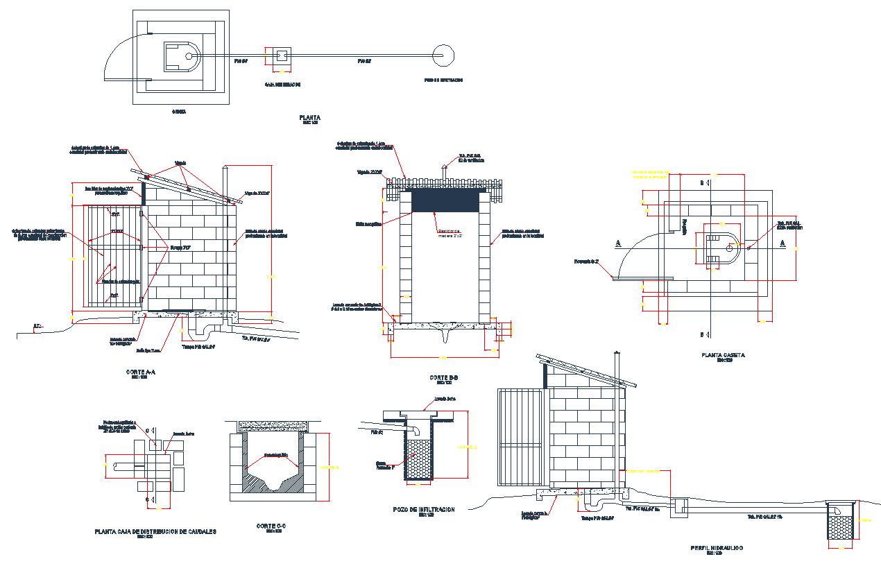Latrine architecture detail