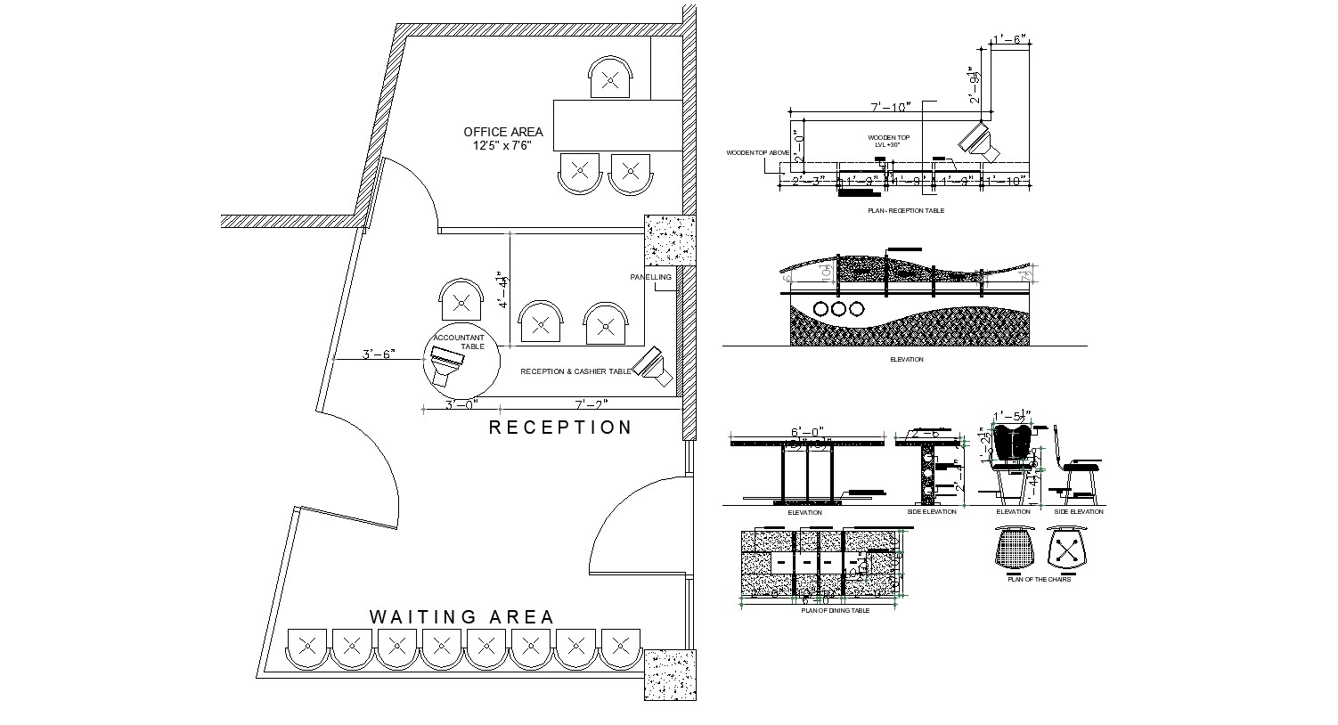 Layout Plan of Restaurant in dwg file