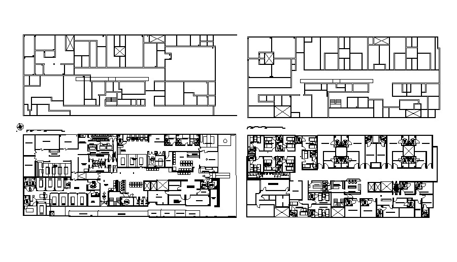 Layout of Hospital Building CAD Drawing